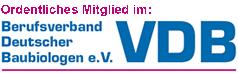 Logo: Berufsverband Deutscher Baubiologen VDB e.V.